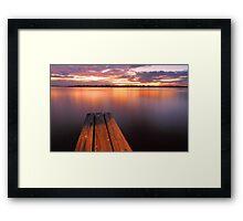 Swan River Jetty Sunset  Framed Print