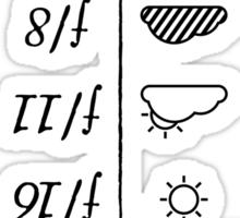 Sunny 16 Rule - Black INVERTED Sticker