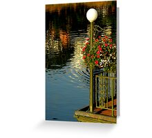 Water With A Hint Of Flowers Greeting Card