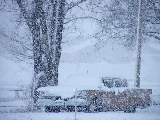 1959 Ford Fairlane on a snowy day...#2 by DonnaMoore