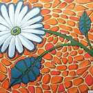 256 - FLORAL DESIGN - 04 - DAVE EDWARDS - ACRYLIC &amp; INK - 2009 by BLYTHART