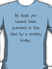 At least you havent been punched in the face by a monkey today T-Shirt
