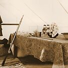 Union Officer's Tent, las Golondrinas Reenactment  by Mitchell Tillison