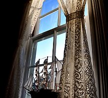 Window Heceta Head Lighthouse keepers house by Marylamb