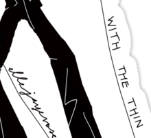 """Dancing with the Thin White Duke"" Sticker"