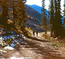 Hiking Couple in the Wasatch Mountains by SteveOhlsen