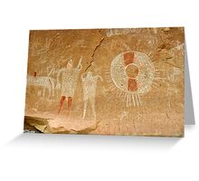 Ute Indian Pictographs Greeting Card