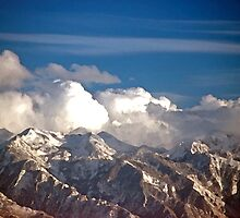 Watercolor of the Wasatch Mountain Range - 692 views by SteveOhlsen