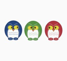 technicolour rainbow owls by Apostle