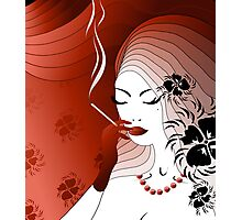 Smoking woman Photographic Print