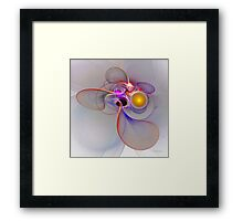 'Light Flame Abstract 018' Framed Print