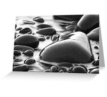 Heart shaped pebble Greeting Card