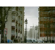 Twisted reflections of Canal St Martin, Paris Photographic Print
