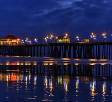 Blue Hour at Huntington Beach Pier~Surf City, USA! by Susan Gary