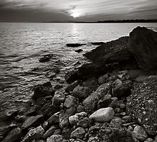 Sunset in B&W by Kostas Pavlis