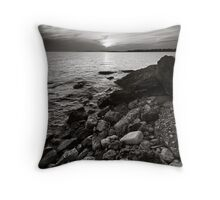 Sunset in B&W Throw Pillow