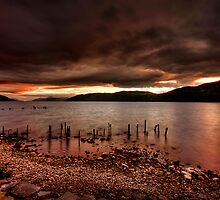 Sunset over Loch Ness by Fraser Ross