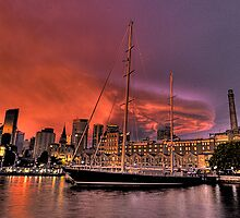 Sailors Warning - Campbells Cove , Sydney- The HDR Experience by Philip Johnson