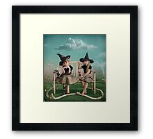 Young sorceress Framed Print