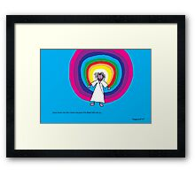 Jesus loves me this I know - A child's Prayer Card No 4 Framed Print