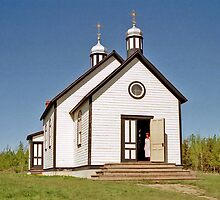 St. Nicholas Ukrainian Greek Catholic Church - Ukrainian Cultural Heritage Village, Alberta, Canada by Adrian Paul