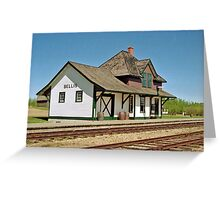 Bellis Railway Station, Ukrainian Heritage Village, near Edmonton, Alberta, Canada Greeting Card