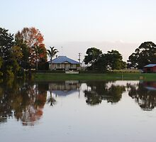 Dumaresq Island reflections by Graham Mewburn