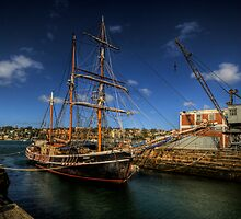 Svanen - Resting at Cockatoo Island by Jeff Catford