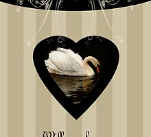 Will you be my bridesmaid, best friend, request bride, with swan by Moonlake