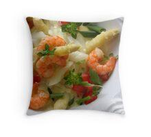 Asparagus With Saffron  Throw Pillow