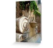 One of Rome´s Fountains Greeting Card