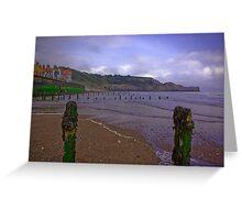 Sandsend Beach Greeting Card