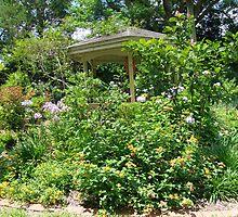 Gazebo at June's Garden, Bayou George, FL by May Lattanzio