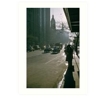 Looking East Early Morning Collins Street Melbourne 1975 Art Print