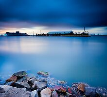 Newcastle Harbour by Andy Gock