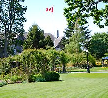 Front Lawn & Garden at B.C.'s Government House by Carol Clifford