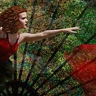 DETAIL CROP 100% from---FAN DANCER by DALE CRUM