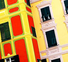 Portofino windows, Northern Italy by Tamara Travers