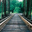 old railroad tracks by Alex Eldridge