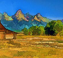 Rural Ranch in the Tetons by Jeff Clow