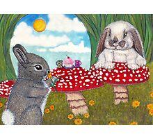 Bunny Breakfast Photographic Print