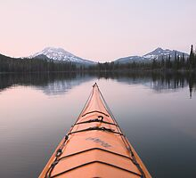 Sparks Lake kayak, Oregon by Christopher Barton
