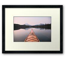 Sparks Lake kayak, Oregon Framed Print