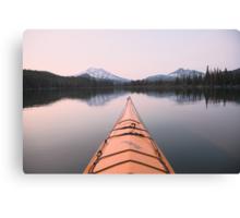 Sparks Lake kayak, Oregon Canvas Print