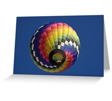 Colorful Hot air balloon Greeting Card