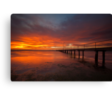 Sunrise at the Rippleside Pier Canvas Print