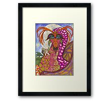 Princess Pinky In The Moonlight Framed Print