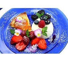 Fruits and Mousse Photographic Print