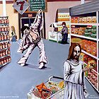 Elvis and Jesus Grocery Shopping by Jerry Kirk
