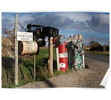 Local Letterboxes looking west, Tasmania Poster